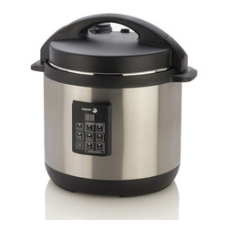 Fagor America - Fagor 6-quart 3-in-1 Electric Multi-cooker - Fagor America's six-quart electric multi-cooker is a pressure cooker,a slow cooker and a rice cooker in one. This three-in-one cooker is the kitchen accessory you have been missing for dinner.