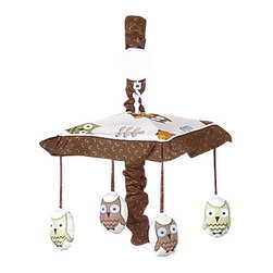 Sweet Jojo Designs - Night Owl Crib Mobile by Sweet Jojo Designs - The Night Owl Crib Mobile by Sweet Jojo Designs, along with the  bedding accessories.