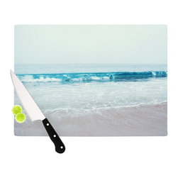 """Kess InHouse - Nastasia Cook """"Crystal Clear"""" Ocean Wave Cutting Board (11.5"""" x 15.75"""") - These sturdy tempered glass cutting boards will make everything you chop look like a Dutch painting. Perfect the art of cooking with your KESS InHouse unique art cutting board. Go for patterns or painted, either way this non-skid, dishwasher safe cutting board is perfect for preparing any artistic dinner or serving. Cut, chop, serve or frame, all of these unique cutting boards are gorgeous."""