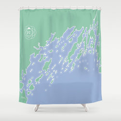 "Casco Bay Maine Shower Curtain - 71 x 74"""