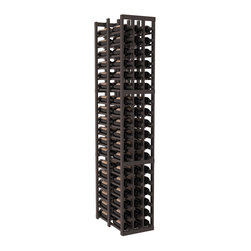 Wine Racks America - 3 Column Double Deep Cellar in Pine, Black + Satin Finish - High capacity double deep wine racks are attractive, functional and efficient. Turn your unused space into wine storage with just one wine rack. Keep 9 cases of wine in only three columns. This wooden wine rack kit is perfect for creating maximum storage capacity from deep but narrow areas like pantries.