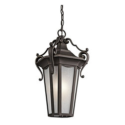 Kichler - Kichler Nob Hill 1-Light Rubbed Bronze Hanging Lantern - 49419RZ - This 1-Light Hanging Lantern is part of the Nob Hill Collection and has a Rubbed Bronze Finish. It is Outdoor Capable.