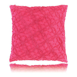 Pine Cone Hill - candlewick fuchsia pillow (26x26) - Constructed using a classic stitching technique, the candlewick bedding basics from Pine Cone Hill offer an intriguing texture over soft 100% cotton. Mix & match from 12 rich colors for the perfect demure accent or bold centerpiece to a cozy, vintage-inspired bedroom.
