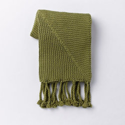Chunky Tassel Throw, Green Tea - This throw is cozy and will add a punch of green to a space. It's also perfect for disguising stains.