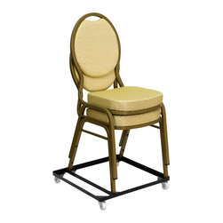 Flash Furniture - Hercules Series Steel Stack Chair and Church Chair Dolly - Make moving your stack chairs faster and more efficient by being able to transport several chairs at once. This heavy duty dolly is very durable and designed especially for commercial use. The chair dolly will enable you to quickly create a banquet room seating arrangement or a business lecture in much less time with much less work. If you are looking forward to achieving increased productivity when it comes to setting up your next event/ you need a stack chair dolly.