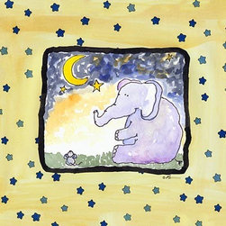 Oh How Cute Kids by Serena Bowman - The First Star-Elephant & Mouse, Ready To Hang Canvas Kid's Wall Decor, 20 X 24 - Each kid is unique in his/her own way, so why shouldn't their wall decor be as well! With our extensive selection of canvas wall art for kids, from princesses to spaceships, from cowboys to traveling girls, we'll help you find that perfect piece for your special one.  Or you can fill the entire room with our imaginative art; every canvas is part of a coordinated series, an easy way to provide a complete and unified look for any room.