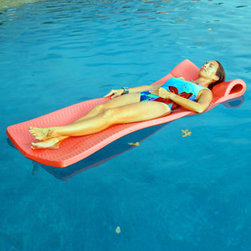 TRC Recreation L.P. - Softie Pool Float, Caribbean Coral - Durable easy to clean, long lasting comfort, cooling ripple texture and a sparkling finish.