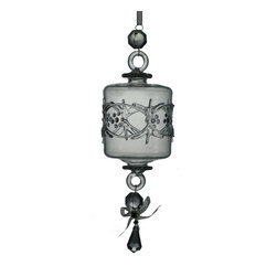 Blown Glass Ornament - The cylindrical shape of this ornament makes it truly special. Reminiscent of a Japanese lantern, it'll add a bit of exotic flair to your holiday look. Gather your friends around the tree and admire the lights shining through the dazzling mouth blown glass. Crafted in Egypt.