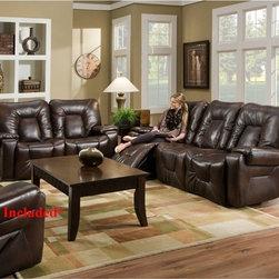 Recline Designs - Sevens Double Reclining Sofa and Loveseat - 552-31-21 - Set Includes Double Reclining Sofa and Loveseat