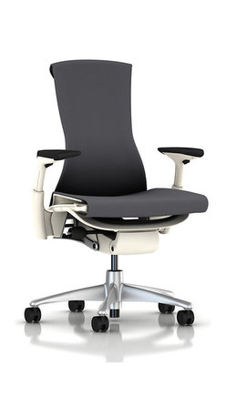 Herman Miller - Embody Chair, Arms - The Embody Chair is the world's first health positive chair. Sitting in this baby will actually improve the health of your back and spine, make you more comfortable, and support every part of your body. Not bad for an office chair. Designed by Bill Stumpf and Jeff Weber, this chair is the current gold standard in the ergonomic furniture world.