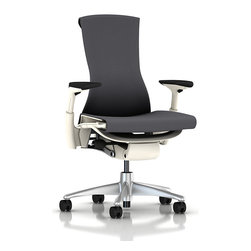 Herman Miller - Embody Armchair - Fix your posture simply by sitting in this ergonomically correct armchair. This classy office chair will stealthily support the health of your spine while providing a stylish seat. Designed by Bill Stumpf and Jeff Weber, this armchair is a stunning feat of professional furniture.