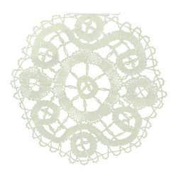 EuroLux Home - Consigned Vintage Belgian Hand-Made Lace Table - Product Details