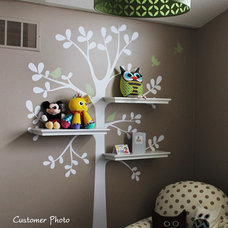 Transitional Nursery Decor by Simple Shapes