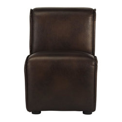 Home Decorators Collection - Logan Armless Kid's Chair - Our cozy Logan Armless Kid's Chair is the perfect launch point for an active child–no arms to get in the way. This comfy chair will be at home at your child's desk or bedside. Plywood and solid wood construction. Your choice of faux leather or linen upholstery. Sponge cushions.