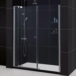 """DreamLine - DreamLine SHDR-4254728-01 Allure Shower Door - DreamLine Allure 54 to 61"""" Frameless Pivot Shower Door, Clear 3/8"""" Glass Door, Chrome Finish"""