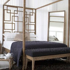 Custom 4 poster bed and bed bench -