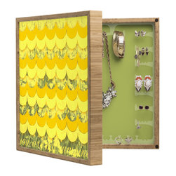 DENY Designs - Gabi Sunshine BlingBox Petite - Handcrafted from 100% sustainable, eco-friendly flat grain Amber Bamboo, DENY Designs BlingBox Petite measures approximately 15 x 15 x 3 and has an exterior matte cover showcasing the artwork of your choice, with a coordinating matte color on the interior. Additionally, the BlingBox Petite includes interior built-in clear, acrylic hooks that hold over 120 pieces of jewelry! Doubling as both art and an organized hanging jewelry box, It's bound to be the most functional (and most talked about) piece of wall art in your home! Custom made in the USA for every order.
