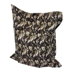 Powell Anywhere Twill Lounger Bean Bag - Camo