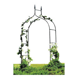 "Gardman USA - Gothic Arch - GOTHIC ARCH - 4'7"" wide x 8'5"" high (above ground) x 19"" deep. Sturdy, black polyester powder-coated steel construction. Easily assembled - instructions included. Ground hole-maker provided for easy fitting."