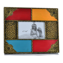 "Concepts Life - Concepts Life Photo Frame  Moorish Splendor  4x6"" - At Concepts Life, we believe that a photo frame needs to match the splendor of the photo you put in it; look no further than this Moorish Splendor photo frame to highlight your cherished photograph in this exotic beauty of a frame.  Modern home accent Hand-painted 100% iron picture frame Easel back for horizontal and vertical display Beautifully hand-crafted; will have unique bends and asymmetries Dimensions: 11""w x 9""h x 1""d Weight: 2 lbs Wipe clean Imported"