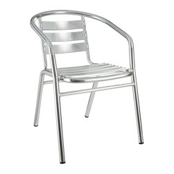 Modway - Perch Dining Chair in Silver - Define your homestead and empower your space with the Perch Indoor/Outdoor Accent Chair. Ascend levels with conversational partners in an effort to attain communal sustainability. Valued measures of expression generate a protected place to prosper.