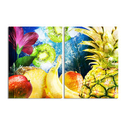 READY2HANGART.COM - Ready2hangart Alexis Bueno Tropical Fruit (2-PC) Canvas Wall Art Set - This tropical canvas art set offers a fusion of color and texture. It is fully finished, arriving ready to hang on the wall of your choice.