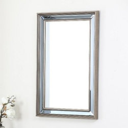 Calyposa Rectangle Wall Mirror - 24W x 36H in. - A light-catching, eye-catching accent for modern homes and offices, the Calyposa Rectangle Wall Mirror – 24W x 36H in. features a simple yet elegant border of ridged wood and glass. Designed in the USA, this modern wall accent has a classic rectangular shape that's suitable for entryways, halls, and prominent walls.About AbbysonBased in California, Abbyson has been America's leading home lifestyle furnishings brand since 1989. Following a mission that aims to combine style, function, affordability, sustainability and diversity into all their products, Abbyson creates classic and transitional designs that let their customers regain the control in the environments that they call home. With operations in Italy, China, and Germany, Abbyson focuses on using the finest materials, craftsmen, and techniques, from their classic leather furniture sets to organic, hand-knotted Tibetan rugs. Abbyson recently partnered with the Sustainable Furnishings Council as part of their effort to find new ways to bring sustainable practices to home furnishings marketplace. Through their green initiatives and everyday design and construction practices, Abbyson keeps striving to meet their customer's lifestyle needs, and revitalize their day-to-day routines.
