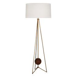 Robert Abbey - Jonathan Adler Ojai Floor Lamp - This cool lamp will floor you. The open base suspends a walnut sphere for an almost space-age look. It looks perfect in the corner of your office or sidled up beside your favorite reading chair.