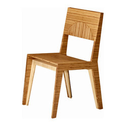 Brave Space Design - Hollow Dining Chair - Whether you're placing a set of these chic bamboo chairs around your dining table or simply opting for one in a  modern office, you'll love the look and feel. Contrasting grain direction creates visual interest, while the thoughtfully ergonomic design is tailor made for comfort. You can't go wrong with this chair.