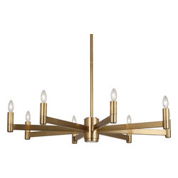 Robert Abbey - Delany Chandelier, Antique Brass - -8-60W Max.