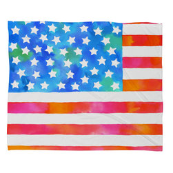 DENY Designs - Betsy Olmsted Old Glory Patriot Fleece Throw Blanket - This DENY fleece throw blanket may be the softest blanket ever! And we're not being overly dramatic here. In addition to being incredibly snuggly with it's plush fleece material, it's maching washable with no image fading. Plus, it comes in three different sizes: 80x60 (big enough for two), 60x50 (the fan favorite) and the 40x30. With all of these great features, we've found the perfect fleece blanket and an original gift! Full color front with white back. Custom printed in the USA for every order.