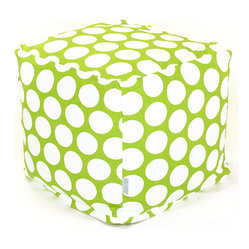Indoor Hot Green Large Polka Dot Small Cube