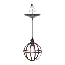 Instant Pendant Light, Brushed Bronze Cage, Brushed Bronze Adapter - Instant Pendant Light, Brushed Bronze Cage, Brushed Bronze Adapter