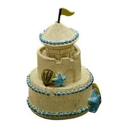 Sand Castle - This mini sandcastle is a great accent for the fairies playing on the beach. It is also sold as part of our Beach Life Kit. Features all-weather paint and a unique distressed finish.