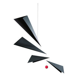 Flensted Mobiles - Wings Mobile - Batman's original baby mobile? Black and white are a new baby's best friends, so your new addition will adore this ultramodern mobile reminiscent of birds' wings spread wide.