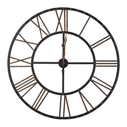 Paragon Decor - Time Stands Still Clock - Contemporary styled in antique bronze finish.