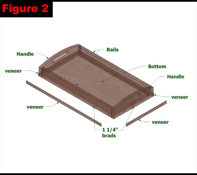 wood plans serving tray