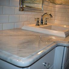 Traditional Powder Room by Exquisite Kitchen Designs LLC