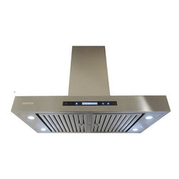 XtremeAIR - XtremeAIR 42 Inch Wall Mount Stainless Steel Range Hood PX06-W42 - XtremeAIR 42 Inch Wall Mount Range Hood with 900 CFM centrifugal blower, Square corner T- shape seamless body, Dishwasher safe swing-able & removable flat baffle filters, Motor container oil cup, 4 Speed Heat Touch Sensitive Electronic Control with LCD Display, Energy Efficient Led Lighting System.