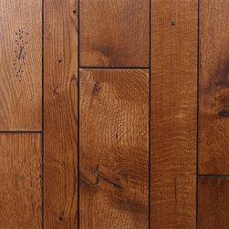 Custom White Oak Flooring - Custom White Oak Wood Floor with Distressing