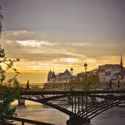 Bridge Over The Seine At Sunset-Paris France, Fine Art Photography Print, 16X24 - Bridge Over the Seine at Sunset.
