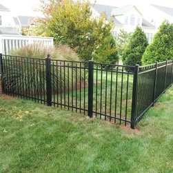 Residential Fencing - 4' high style 200 Black Aluminum fence