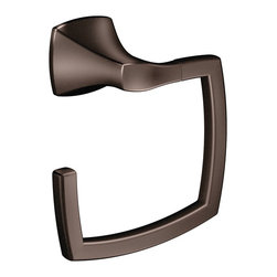 Voss™ Towel Ring with Oil Rubbed Bronze Finish - The warm bronze finish of the Voss towel ring brings an ageless visual element to your bath.