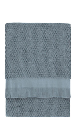 Nine Space - Dotty Bath Towel, Steel Blue - At 680 grams per square meter, this bath sheet is luxuriantly soft and amazingly absorbent. It offers up plenty of visual texture with an irresistibly charming bubble pattern, giving your bath a look that's at once elegantly refined and subtly whimsical.