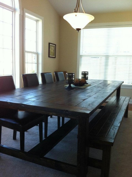 farmhouse dining tables by Cecil Mack Company