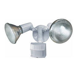 Heath Zenith - Heath Zenith SL-5411-WH-C 2 Light 150 Degree Motion Activated Twin Flood Securit - Heath Zenith SL-5411-WH-C 2 Light 150 Degree Motion Activated Twin Flood Security Light, WhiteProviding safety and peace of mind, the Heath Zenith SL-5411-WH features full state of the art 150-degree motion detection up to 60 foot with a sturdy metal housing for durability. Uses two 120 watt max PAR38 flood bulbs (not included). California Title 24 compliant.Heath Zenith SL-5411-WH-C Features: