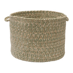 "Colonial Mills, Inc. - Tremont, Palm Utility Basket, 14""X10"" - Ever wish you could make household clutter just disappear from view? This braided storage basket has a relaxed elegance that looks great anywhere in the house, yet the subtle, natural colors keep it understated so that no one has to notice it doing your dirty work. Use it to hide laundry, toys or shoes in plain sight."