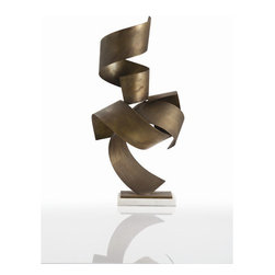 """Arteriors - Arteriors Home - Henley Sculpture in Vintage Brass - 3125 - Arteriors Home - Henley Sculpture in Vintage Brass - 3125 Features: Henley Collection Sculpture Vintage brass finish White marble stand Some Assembly Required. Dimensions: 13"""" W X 8"""" D X 25"""" H"""