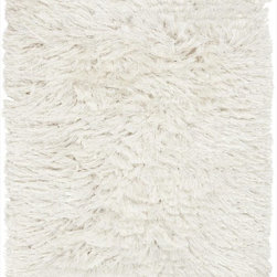 Surya - Surya Whisper Woven Winter White Polyester Rug, 2' x 3' - Leave it to renowned interior designer Candice Olson to develop a rug that is retro, traditional and completely modern. The exciting shags of the Whisper Collection combine quality craftsmanship with the latest in fiber technology to create rugs that signify the essence of retro design. Available in cool, soothing tones of gray, taupe and ivory, each piece is hand-woven from polyester and is a textural masterpiece that is certain to enliven any room.  Imported.Material: 100% PolyesterCare Instructions: Blot Stains