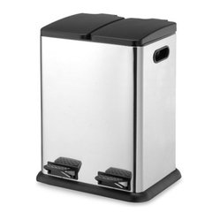 10.5 Gallon Two Compartment Step-On Bin